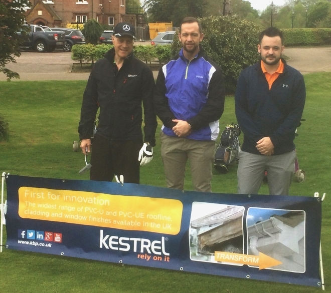 Kestrel team braves the elements for charity golf day